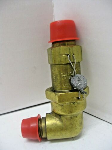 "Henry Valve Co. Cat. No. 526E 300 PSI Cap. Size 3/8"" Pressure Relief Valve New"