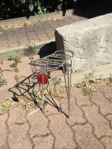 Chrome silver bike pannier rack