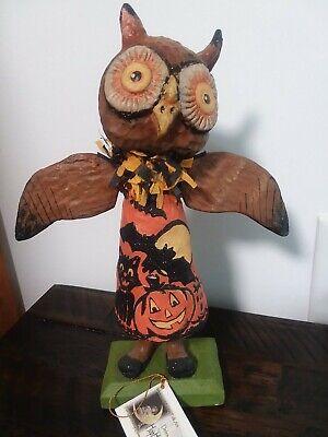 """Debra Schoch Bethany Lowe 11"""" Hoot Owl Halloween Retired separate wings"""