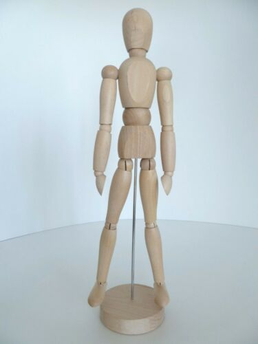 "Human Body Artist Model Wood Mannequin Modeling Sketch Drawing 13 1/2"" Figure"
