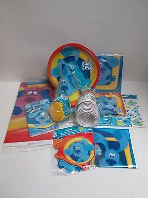 BLUES CLUES BIRTHDAY PARTY SET - 11 PACKAGES IN SET -- PARTY SUPPLIES