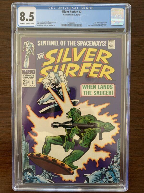 Silver Surfer #2 CGC 8.5 (Marvel 1968)  1st Brotherhood of Badoon!