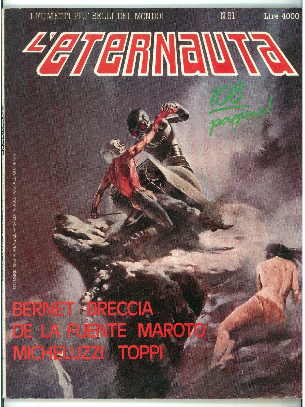L'ETERNAUTA NUMERO 51 OTTOBRE 1986 FUMETTI SERGIO TOPPI JOSEPH M. BEA MICHELUZZI