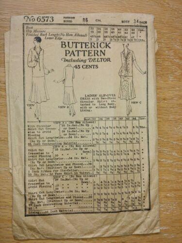 Antique Sewing Pattern- Ladies Dress # 6573