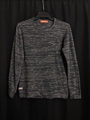 Superdry Charcoal Gray Melange Long Sleeves Knitted t shirt size Small
