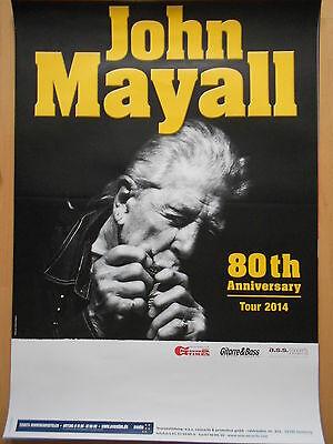 JOHN MAYALL 2014 TOUR  orig.Concert-Konzert-Tour-Poster-Plakat DIN A1