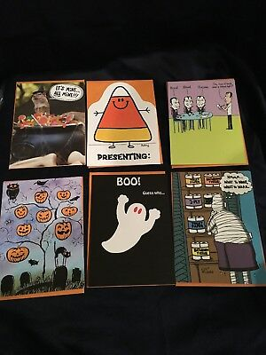 Recycled Paper Greetings Cards Halloween Lot of 6 New NWT For Kids or Adults