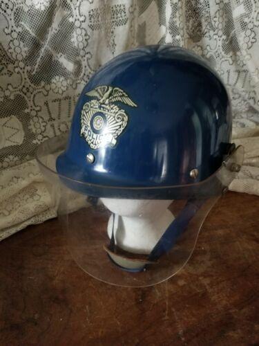 Vintage Police Department Rioter Helmet w/Shield