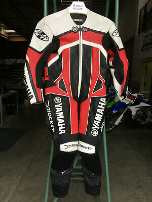 Joe Rocket Yamaha One Piece Race Suit Size 40 - Road Racing Leathers Joe Rocket Racing Leathers