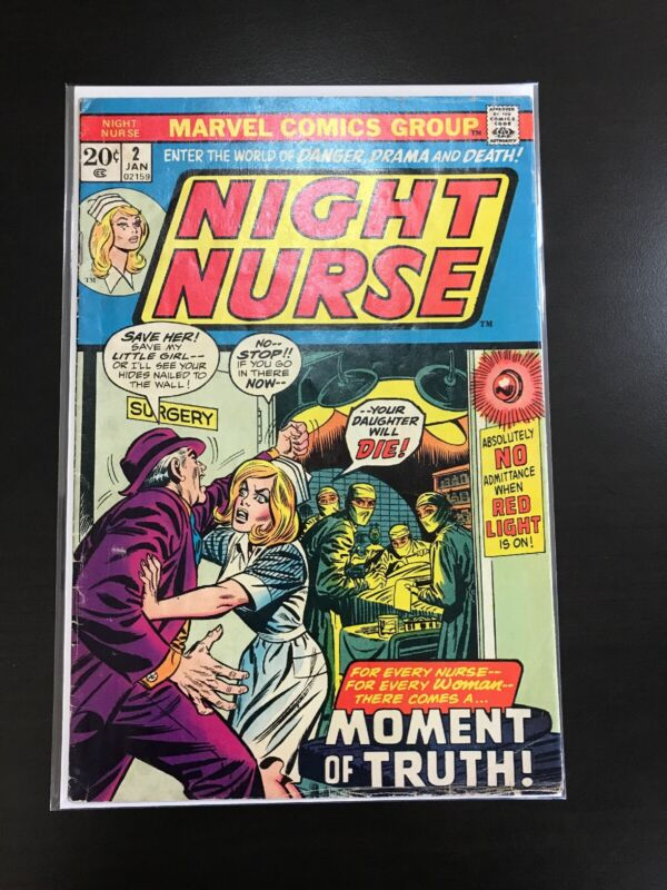 NIGHT NURSE #2 January 1973 Mar Vintage Marvel Romance Comic - Affordable