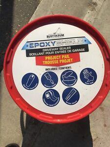 Epoxy Rustolim Driveway sealer almost half pale