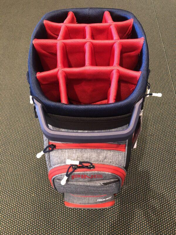 Ping Traverse Cart Bag 14-Way Top / Heather Grey/Navy/ Scarlet Brand New TRV 191