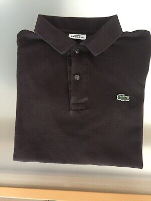 Mens Brown Lacoste Polo Shirt Size 5(M) Good Condition