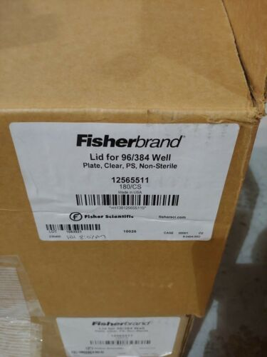 FisherBrand 12565511 Lid for 96/384 Well Microplates Plate Clear 180 in Case