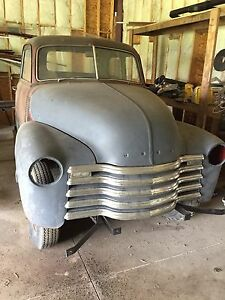 1949 5 window chev trade for jeep