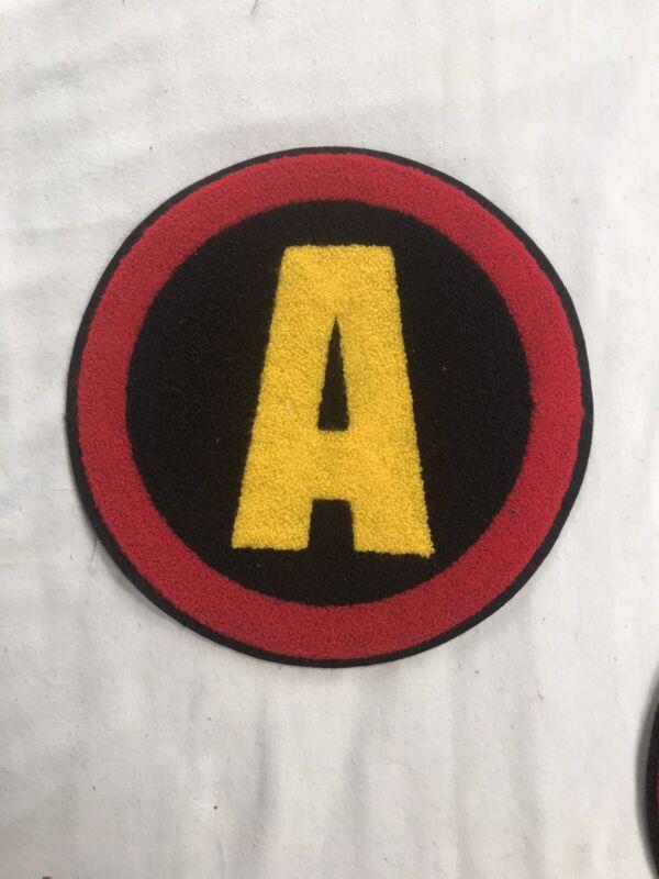 NEW Vintage A Avengers Block Letter Embroidered Letterman Black Patch NOS