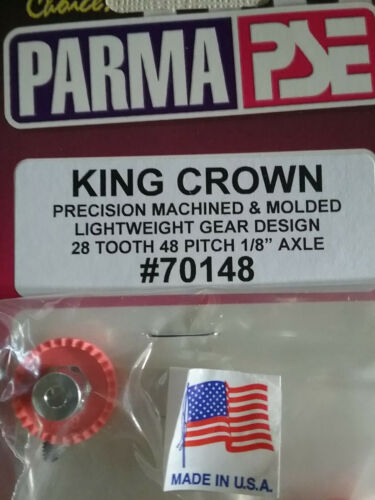 "Parma 70148 King Crown Gear 28 Tooth 48 Pitch 1/8"" Axle With Allen Screw Qty. 1"
