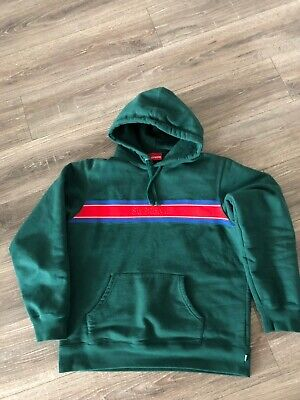 Supreme Logo Hoodie Hoody Pullover Box Logo Gucci Green Mens Large