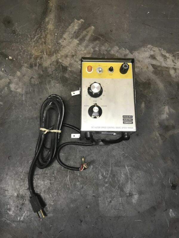 Bodine Electric Company DC Motor Speed Control/Basic Speed Range ASH 500