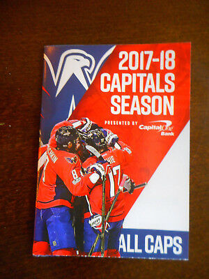 2017 18 Washington Capitals Pocket Schedule Regular Season Capital One Bank