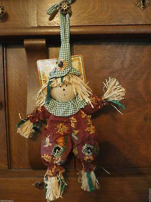FALL Thanksgiving Straw Man Halloween Door Knob Wall - Halloween Decor Usa