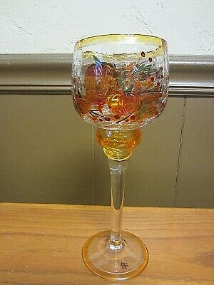Yankee Candle-Pumpkins Crackle Glass-Long Stem Votive Holder 2012