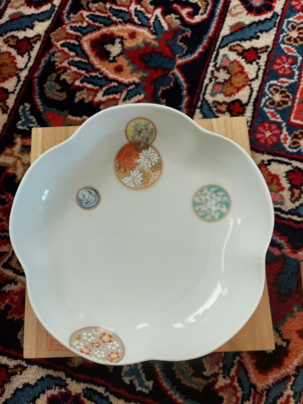 Fukagawa Japanese  Plate With Box