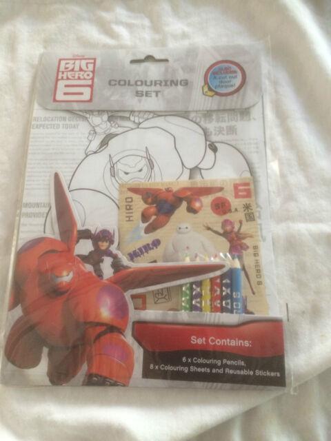 Disney Big Hero 6 Colouring Kids Activity & Stickers Set - Childrens Art