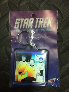 Classic Star Trek Kirk on Bridge Hologram keyring for sale
