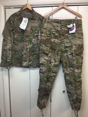 Coat & Trouser Army Combat Uniform FR Multicam OCP Large Regular NWT