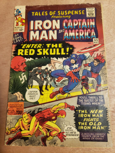 Tales Of Suspense #65 First Silver Age Appearance Of Red Skull. Captain America