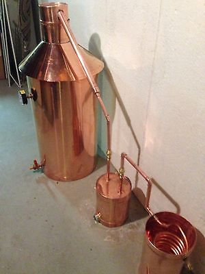 Copper Moonshine Still Built to last, Heavy Copper StillZ 20 Gal. FREE Ship