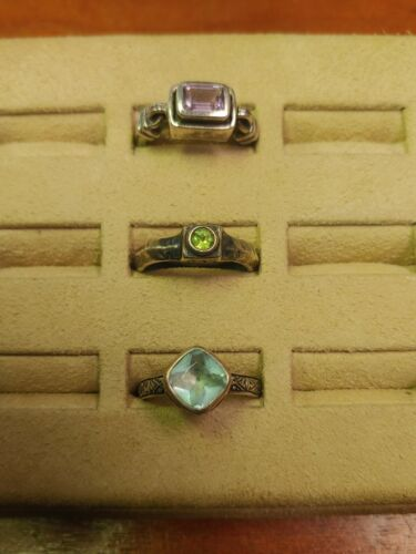 Vintage Lot of 3 Silpada Sterling Silver Rings Assorted Style All Size 8