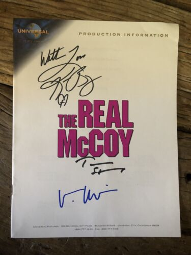 The Real Mccoy Hand Signed Cast Of 3. Movie Promo Magazine. - $23.99