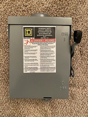 Square D Du222rbup1 60a Non-fusible General Duty Safety Switch Free Shipping