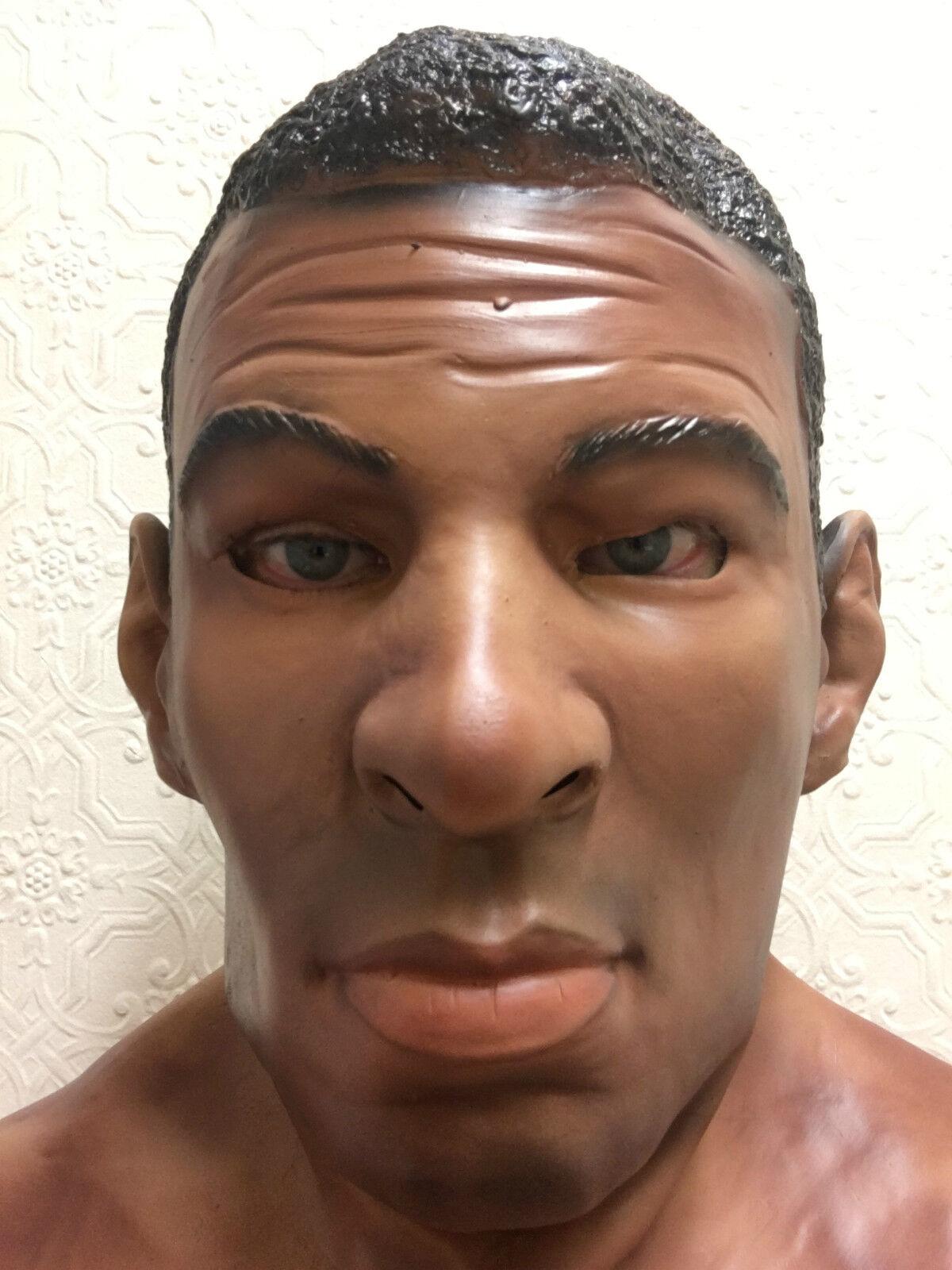 Schwarz Stecker Man Latex Maske Halloween Kostüm Masken Boxer Ali