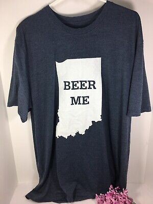 Beer Me Indiana Mens Graphic Tee Size XXL for sale  Harrisburg
