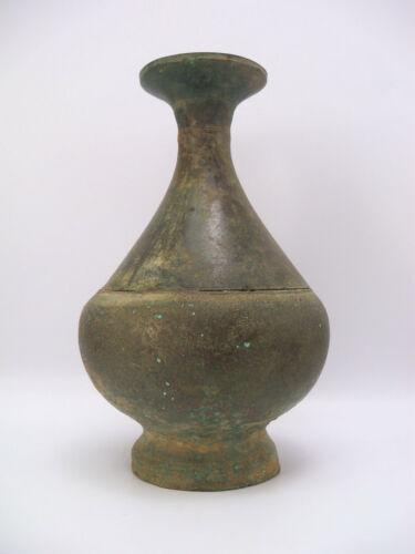 12-13th Century Angkor Khmer Dynasty Cambodian Bronze Vase Vessel Flask