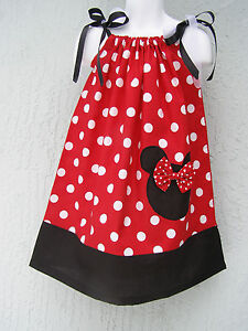 Lovefeme-Minnie-Mouse-Girls-Pillowcase-Dress-Size-1T-2T-3T-Multi-color-Summer