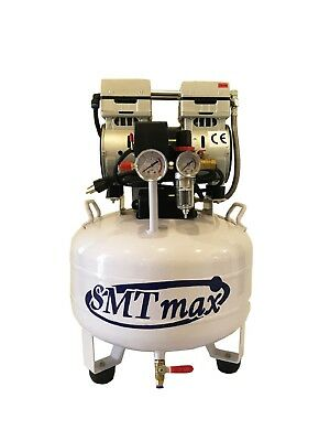 New 1 Hp 8 Gallon Medical Noiseless Oil Free Dental Air Compressor 220v