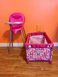 Graco Toy High Chair & Playpen