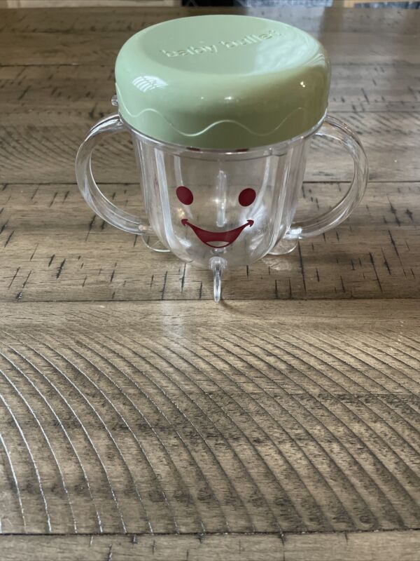 Baby Bullet Food Blender Processor Short Cup With Lid Replacement Parts