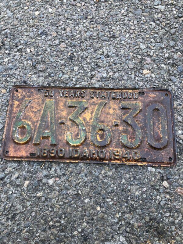 1940 Idaho License Plate