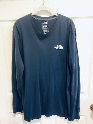 The North Face Men's L/S Tee-Shirt Blue Size XL Classic Fit Pullover Exc Cond
