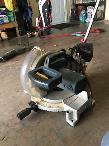"10"" Mastercraft Hawkeye mitre saw."