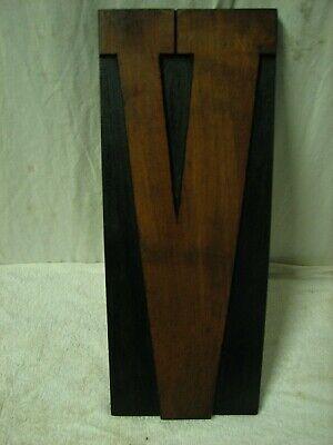 Vintage Huge 15 Wood Letterpress Block Print Type Letter V