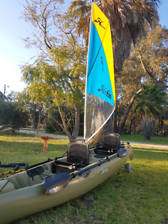 Hobie Kayak tandem sail, Mirage drive immaculate condition