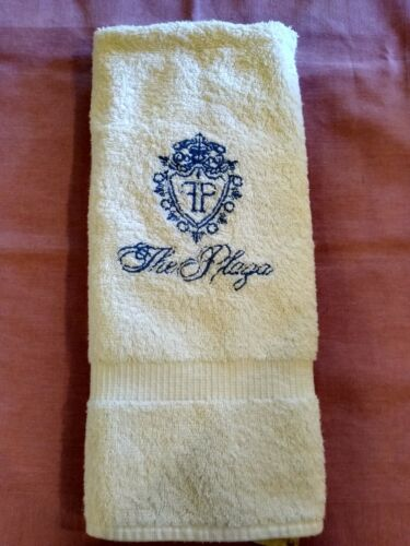 THE PLAZA HOTEL~NEW YORK~AUTHENTIC HAND TOWEL WITH CREST FROM LATE 90