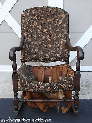 Vintage / Antique Solid Wood Rocking Chair. Wooden Rocker. MUST SEE. LOOK..