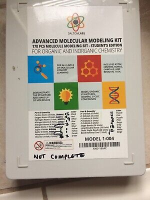 Dalton Labs Molecular Model Kit—178 Pieces, This Is An Incomplete Only 112 Piece for sale  Tulare